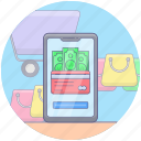 ecommerce, eshop, mobile shopping, online buying, online shopping icon