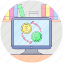 currency exchange, dollar exchange, foreign exchange, forex, money conversion, money exchange icon