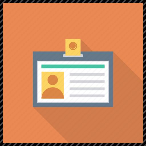 badge, card, employee, id, idcard, identification, identity icon