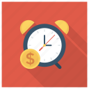 cash, clock, deadline, finance, money, payment icon