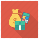 calculator, currency, finance, money, moneybag, shopping icon