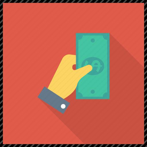 currency, dollar, finance, finger, gesture, hand, money icon