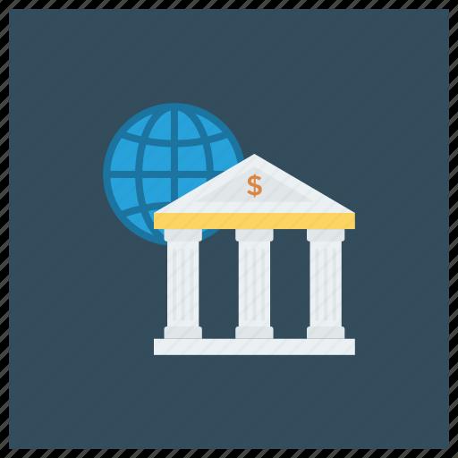 banking, business, cash, finance, global, international, money icon