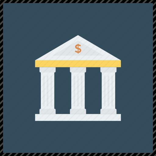 bank, bankbuilding, banker, banking, cash, finance, money icon