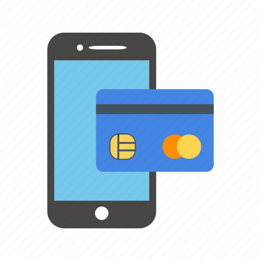 banking, credit card, finance, mobile, transaction icon