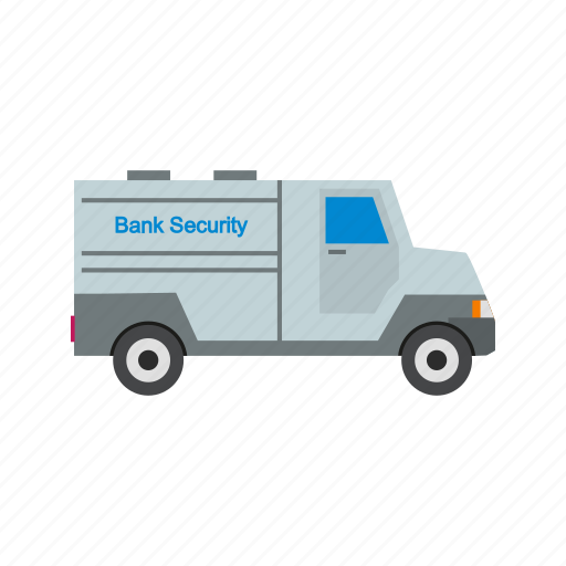 bank, banking, protection, security, van icon