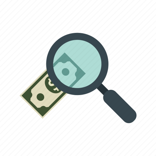 banking, dollar, find, money, search icon