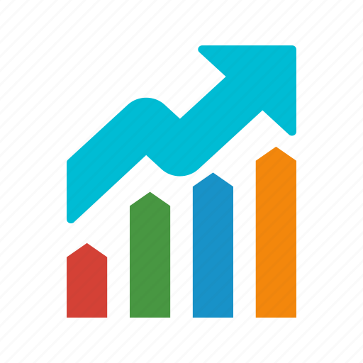analysis, banking, graph, growth, presentation icon