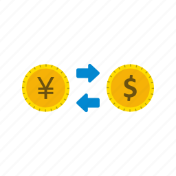 currency exchange, exchange rate, foreign exchange icon