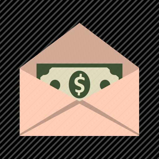 money envelope, money order, sending money icon