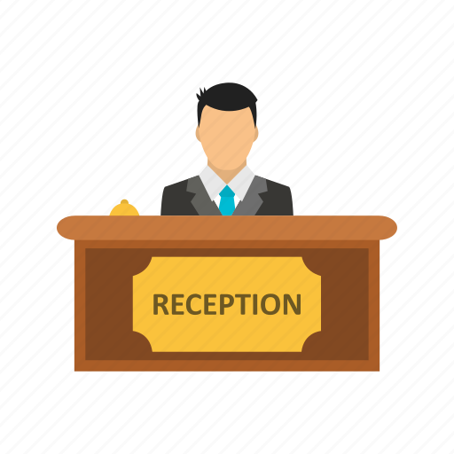 administrative, banking, counter, hotel, reception icon