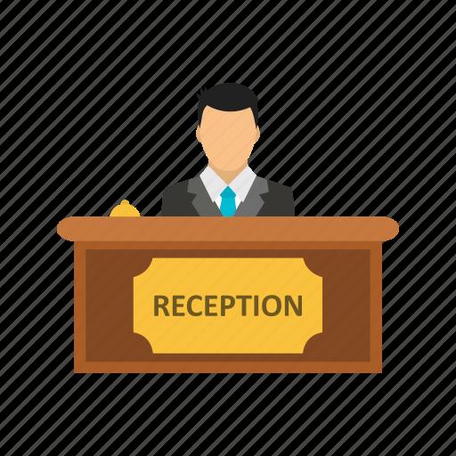 administrative, counter, reception icon