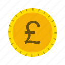 banking, coin, currency, money, pound icon