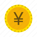 banking, coin, currency, money, yen icon