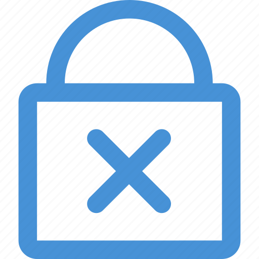 lock, not secure, password, security, unauthorised, wrong icon