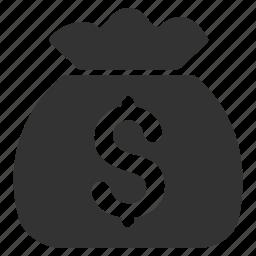 bank, cash, dollar, finance, fund, money bag, payment icon
