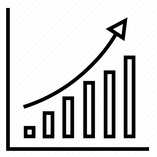 analytics, economical survey, financial report, market, trend icon