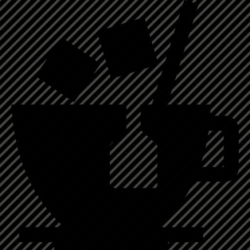 bag, cup, tea icon
