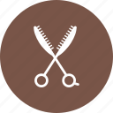 art, barber, cut, hair, paper, scissors, sharp icon