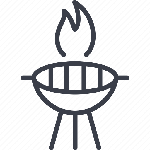 barbecue, cooking, fire, forks, grill, steak icon