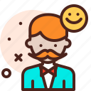 beard, client, haircut, hairdress, happy, hipster icon