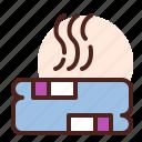 beard, haircut, hairdress, hipster, towel icon
