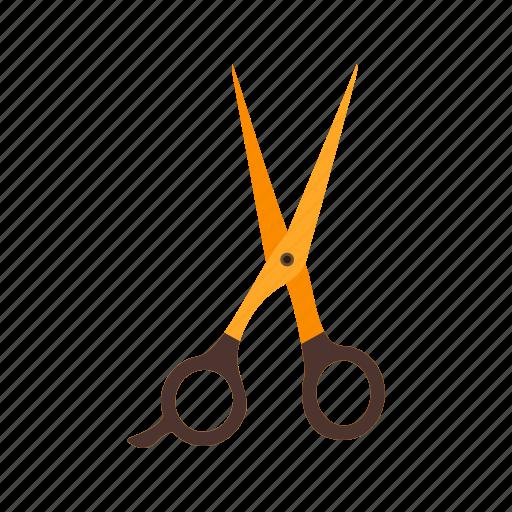 art, barber, cut, hair, paper, scissors, sharp icon