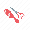 barber, comb, cut, hair, scissors, stylist, trim icon