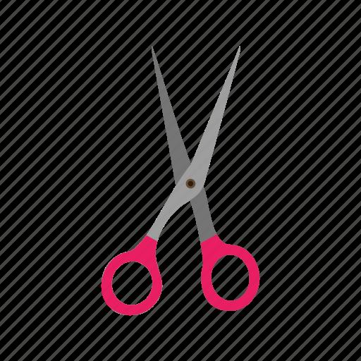 beauty, cut, cutting, hair, open, scissors, sharp icon