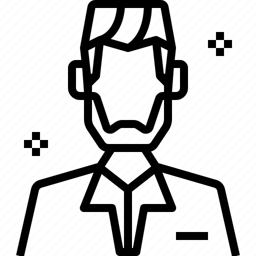 avatar, haircut, man, salon, styling, user icon