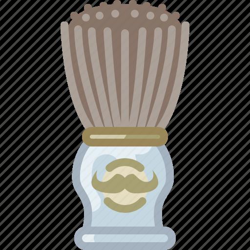 barber, brush, foam, shaving, soap, soaping, yumminky icon
