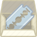 barber, blade, pack, razor, shaver, shaving, yumminky icon