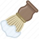 barber, brush, foam, shaving, soap, soaping, yumminky icon