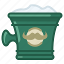 barber, cup, foam, shaving, soap, soaping, yumminky icon