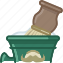 barber, brush, cup, foam, shaving, soap icon