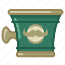 barber, cup, shaving, shop, soap, soaping icon