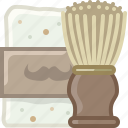 barber, brush, foam, hipster, shaving, soap icon