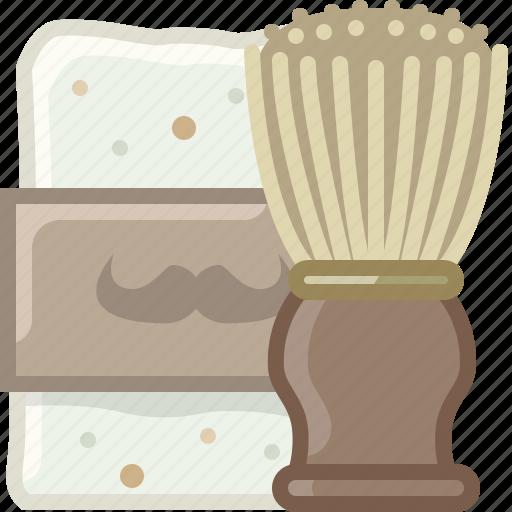 barber, brush, foam, hipster, shaving, soap, yumminky icon
