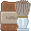 barber, brush, foam, hipster, shaving, soap, yumminky icon