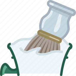 barber, brush, cup, foam, shaving, soap, yumminky icon