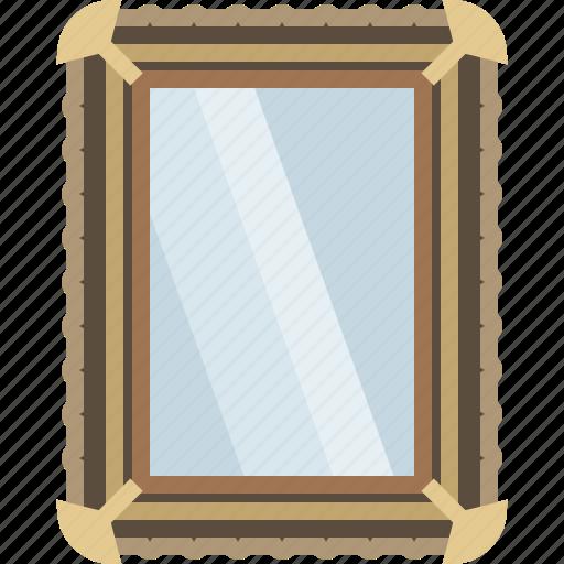 barber, frame, glass, looking-glass, mirror, shaving, yumminky icon