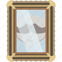 barber, face, glass, head, mirror, moustache, yumminky icon