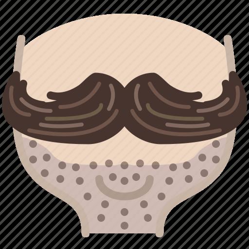 barber, head, hipster, moustache, shaving, stubble, yumminky icon