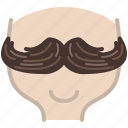 avatar, barber, head, hipster, moustache, shaving icon