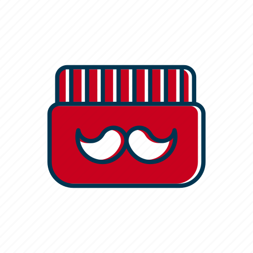 barber, bottle, care, line, mustache, shop, thin icon