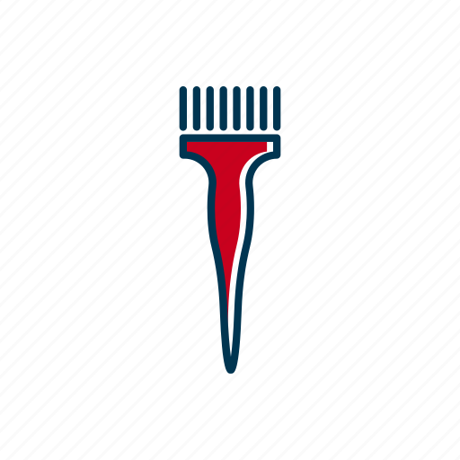 barber, brush, coloring, hair, line, shop, thin icon