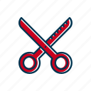 barber, line, scissors, shop, thin, thin out icon