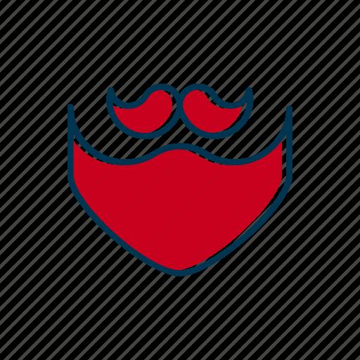 barber, beard, line, moustache, mustache, shop, thin icon