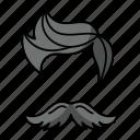 mustache, moustache, hairs, spikes, hair style, fashion, man