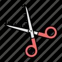 thin scissors, hear cutting, shears, thinning scissors, scissor, cutter